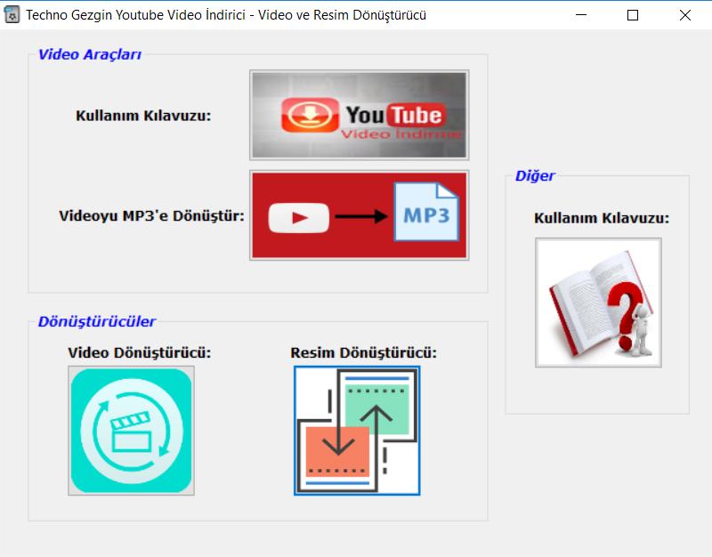 Youtube Video indirici - Video Dönüştürücü - Resim Dönüştürücü Aynı Programda