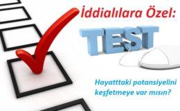 İddialı test