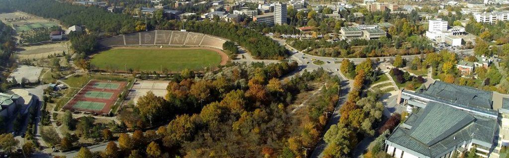 Merkez stadın da görüldüğü ODTÜ'nün merkezi