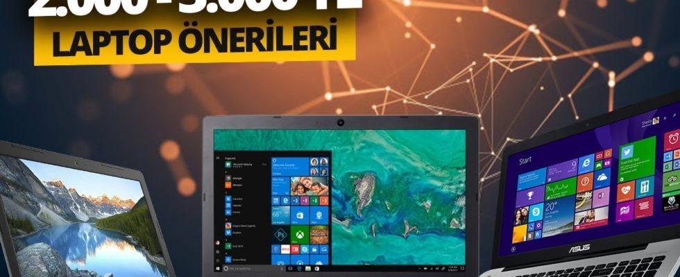 Laptop Önerileri 2000 - 3000 Lira Arası