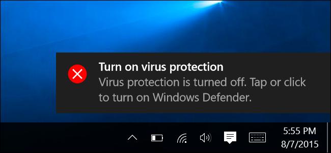 Tabi Windows kullanıyorsanız windowsun kendi anti virüsünü de açın